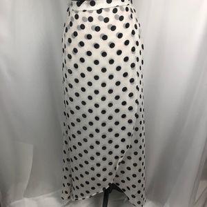 Dresses & Skirts - NWOT Polka Dot Sheer High Low Maxi Skirt